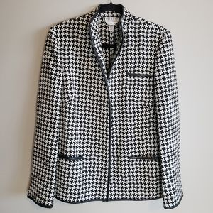 Talbots 100% wool, houndstooth jacket, size 12